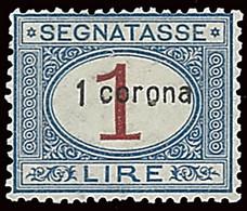 ITALY ITALIA DALMAZIA 1922 SEGNATASSE 1 CORONA (Sass. 2) NUOVO MNH ** OFFERTA! - Dalmatia