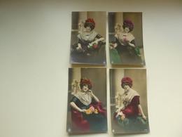 Beau Lot De 20 Cartes Postales ( 5 Series X 4 Cartes ) De Fantaisie Femme   Mooi Lot Van 20 Postkaarten Fantasie Vrouw - 5 - 99 Cartes