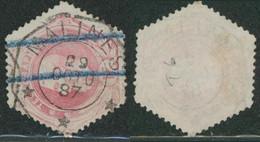"""Télégraphe - TG6 Obl Télégraphique """"Malines"""" (1887) + Marque De Service - Telégrafo"""
