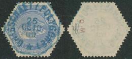 """Télégraphe - TG17 Obl Télégraphique Bleue """"Brasschaet (Polygone)"""" - Telégrafo"""