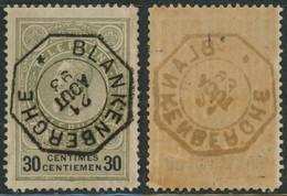 """Téléphone - TE22 Obl Télégraphique """"Blanckenberghe"""" (1893) - Teléfono"""