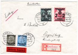 Generalgouvernement 1940, 4 Marken Auf Reko-Express Brief V. Krakau - Sonstige