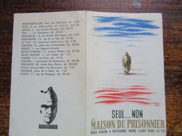 La Maison Du Prisonnier Liste Des Maisons D Accueil Pour Le Prisonniers Et Aux Familles - Documenti