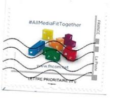 Timbre Personnalisé Sur Fragment Journaliste Influenceur #allmediafittogether Twitter Wifi Youtube Google - Personalizzati (MonTimbraMoi)