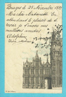 * Brugge - Bruges (West Vlaanderen) * (Lith Léon Dehaene) Carte De 1899, Very Old, Vieille Carte, Old, Rare - Brugge