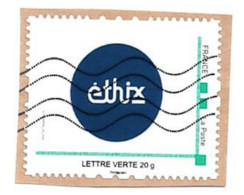 Timbre Personnalisé Sur Fragment Entreprise Ethix Rond Bleu - Personalizzati (MonTimbraMoi)