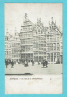* Antwerpen - Anvers - Antwerp * (nr 9) Un Coin De La Grand'Place, Hoek Van De Grote Markt, Animée, Old, Rare - Antwerpen