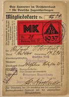 HJ- Hitler Jugend-Mitglieds Ausweis - WW2 Laissez Passez - Laisser Passer - WW2 Document Allemand - Guerre - Historical Documents