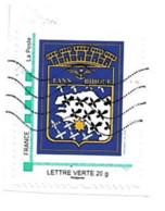 Timbre Personnalisé Sur Fragment Bretagne Lann Bihoue Blason Breton - Personalizzati (MonTimbraMoi)