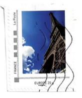 Timbre Personnalisé Sur Fragment Paris Tour Eiffel - Personalizzati (MonTimbraMoi)