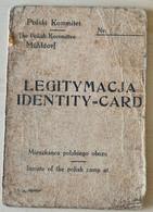 Pologne DACHAU - WW2 Laissez Passez - Laisser Passer - WW2 Document Allemand - Guerre- Diplome Medaille - Historical Documents