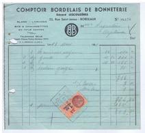 GIRONDE - BORDEAUX - Gérard LESCOUZERES - Bonneterie, Lainages, Bes & Chaussettes Etc...33 Rue Saint-James - Textile & Vestimentaire