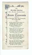 Bertha Saelens  Eerste Communie In De Parochiale Kerk Van Cortemarck Den 2 April 1903 - Kortemark
