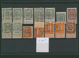 """Armoiries / Pellens - Lot Préo """"Lier... Lierre"""" (1908 >1913) Sur Plaquette. Cote 150e + - Rolstempels 1900-09"""