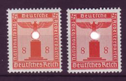 Deutsches Reich Dienst D 160 Ohne WZ 8 Pf Postfrisch In 2 Verschiedene Farben  - Oficial