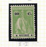 PORTUGUESE GUINEA STAMP - 1914 (1921-2) CERES PERF:12x11½ P.LISO STARS(I-I) Md#154 MH (LGNE#63) - Guinea Portoghese