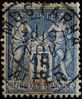 -Sage N°101 Type II  Ob  ( CAD ) MUSTAPHA  ALGER.1898 - 1876-1898 Sage (Tipo II)