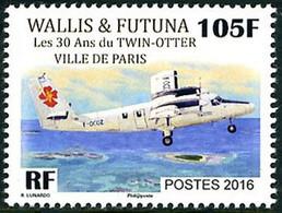 "Wallis Futuna 2016 De Havilland Canada Twin Otter ""Ville De Paris"" - Aerei"