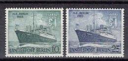 229e * BERLIN 126/7 * 2 FEINSTE WERTE * SCHIFF BERLIN * MICHEL 10,00 * POSTFRISCH **!! - Neufs