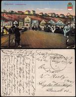 Helgoland (Insel) Landungsbrücke Belebt 1917  Gel. Schiffspoststempel - Unclassified