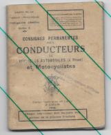Consignes Pour Conducteurs Automobile Et Moto Armée Belge - Motorrad