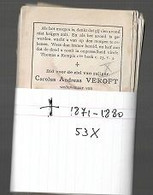 15 08 /   53 DOODSPRENTJES   + 1871  1880 - Religion & Esotericism