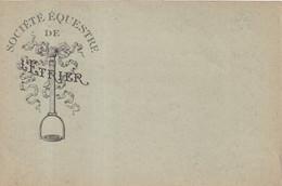 "FRANCE : ENTIER POSTAL . 10 Cts . TYPE SEMEUSE LIGNEE  . CP . REPIQUAGE . ""  SOCIETE EQUESTRE DE L'ETRIER "" . 1904 . - Cartoline Postali Ristampe (ante 1955)"