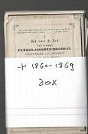 15 08 /   30  DOODSPRENTJES   + 1860 1869 - Religion & Esotericism