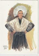 FOLFLORE 390 : Matelote Bourbonnaise ( Pas De Calais ) Aquarelle De J Colombi : édit. Yvon - Costumes