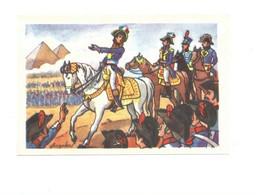 """Chromo NAPOLEON Pyramides Egypt Egypte مصر """"Du Haut De Ces Pyramides..."""" 80 X 52 Mm Biscottes L""""Angevine  Bien  2 Scans - Altri"""