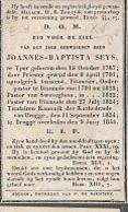 15 08 /   DP   ° YPER 1767 +BRUGGE 1844 E.H.J.SEYS PASTOR ZWEVEGEM DIKSMUIDE KAN.TE BRUGGE - Religion & Esotericism