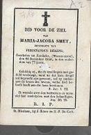 15 08 /   DP   ° WAASMUNSTER?? 1763?? + WAASMUNSTER 1840 MARIA SMET - Religion & Esotericism