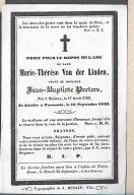 15 08 /   DP  ° MALINES 1769 + TERMONDE 1849   MARIE THERESE VAN DER LINDEN - Religion & Esotericism