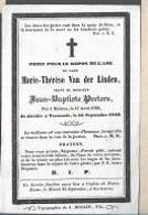15 08 /   DP  ° MALINES 1769 + TERMONDE 1849   MARIE THERESE VAN DER LINDEN - Religion & Esotérisme