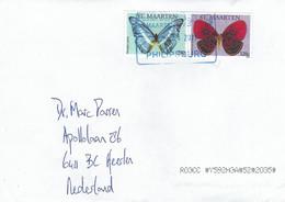 St Maarten 2021 Philipsburg Morpho Cypris Paralaxita Lacoon Butterfly Cover - Vlinders