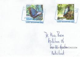 St Maarten 2021 Philipsburg Blue Morpho Morpho Peleides Butterfly Insect Cover - Vlinders