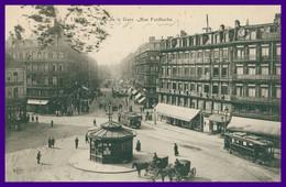 LILLE - Place De La Gare - Rue Faidherbe - Tram - Tramway - Commerce - Kiosque - Chevaux - Animée - Edit. ELD - 1911 - Lille