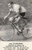 Jean Stablisnski ( Autograghe Voir Photo ) Champion Du Monde 1962 - Cycling