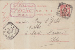 FRANCE : ENTIER POSTAL . 10 Cts . TYPE MOUCHON RETOUCHE . OBL . A L'ARRIVEE . EN ITALIE . 1903 . - Cartoline Postali E Su Commissione Privata TSC (ante 1995)