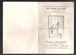 """SINT-AMANDS-AAN-SCHELDE  - PLECHTIGE HERINHULDIGING KAPEL VAN O.L.VROUW """"TEN DONCKERE"""" - 7 OKTOBER 1951(2 Scans)(OD 162) - Programme"""