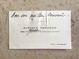 "Algérie : Carte De Visite Judaïca "" Gustave Hannoun  "" - Visiting Cards"
