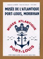 PORT-LOUIS - MUSEE DE L'ATLANTIQUE (56) : ECUSSON BLASON ADHESIF - Stickers
