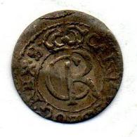 LIVONIA - SWEDISH OCCUPATION, 1 Solidus, Silver, Year 1661, KM #55 - Lituanie