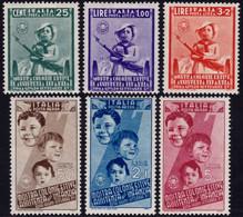 ✔️ Italia 1937 - Infanzia Aerea - Sass. A100/A105 * MH €120 - Poste Aérienne