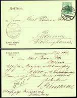 "Dillenburg Lahn 1902 "" Firma Ernst Krah "" Frankierter Bedarf Geschäfts- Postkarte > Wichlinghausen Barmen - Dillenburg"