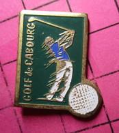 810g Pin's Pins / Beau Et Rare / THEME : SPORTS / GOLF DE CABOURG VARIANT VERT BOUTEILLE De Champagne Uniquement ! - Golf