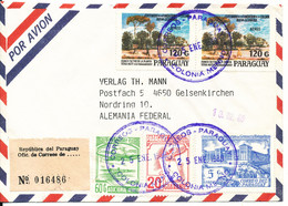Paraguay Registered Air Mail Cover Sent To Germany 25-1-1989 With More Topic Stamps - Paraguay