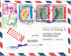 Paraguay Registered Air Mail Cover Sent To Germany 28-4-1987 With More Topic Stamps - Paraguay