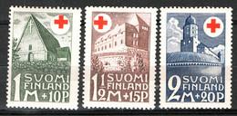 Finlandia 1931 Unif. 161/63 */MH VF/F - Ongebruikt