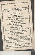 15 08/ W2//  ° HOOLAERT??  1798?   + HOOLAERT 1848   ANNE VAN DEN KERCKHOVE - Religion & Esotericism